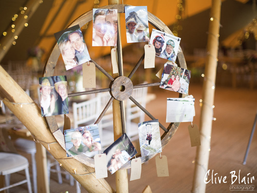 Photo Display - Sami Tipi Wedding captured by Clive Blair