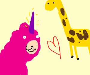 unicorn and giraffe