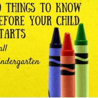 Have you got a kid starting kindergarten in the fall? Here are 10 things you need to know about kindergarten before that first day.