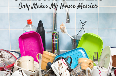 As a SAHM, you'd think having a spotless house would be a breeze. But when children are involved, cleaning only makes my house messier.