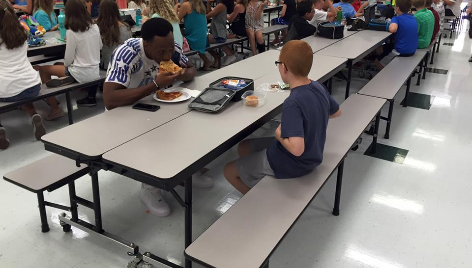 Football Player Joins Autistic Student for Lunch, Reminds Us What's Important