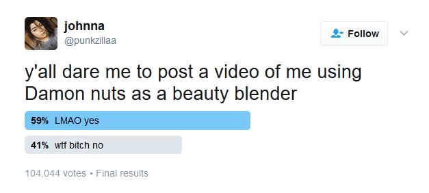 Johnna Hines Twitter poll