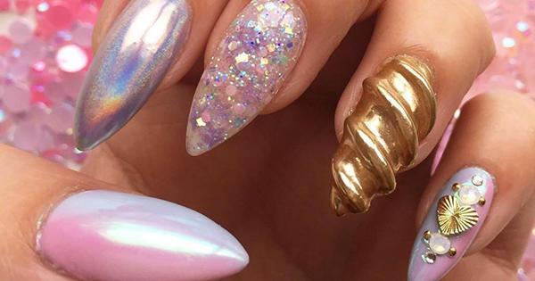 unicorn horn manicure
