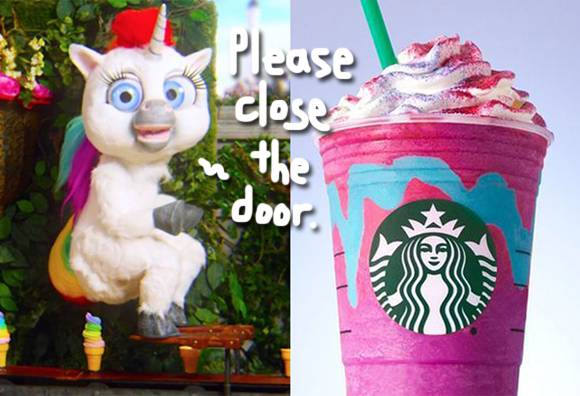 unicorn poop unicorn frappuccino meme