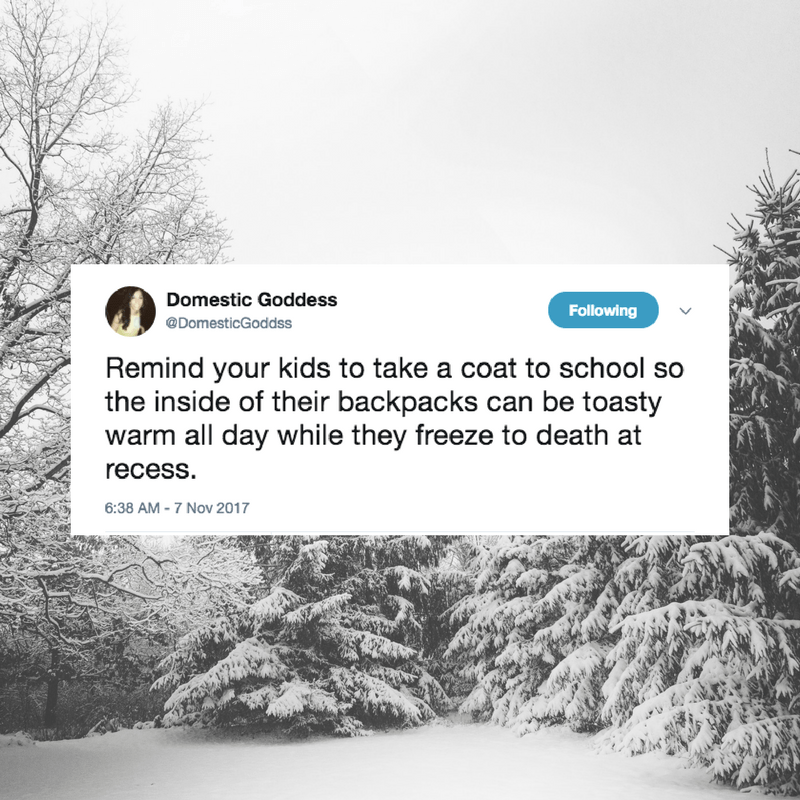 Why do kids fight against coats? And warmth? What sort of code of honor are they upholding by freezing their tiny butts off all winter?