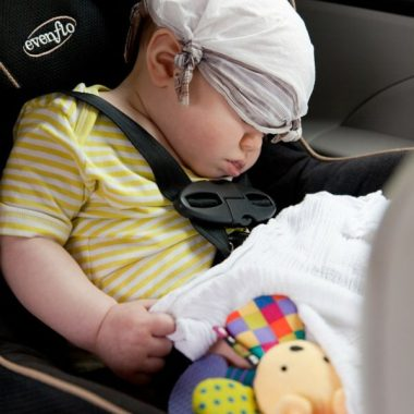 Need to get out of the house and interact with other moms? No worries! Just follow this 987-step, fool-proof plan that will end in her sleeping and your reading a book in the car.