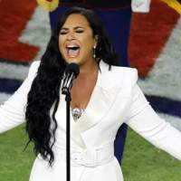 There were lots of heroes on the Super Bowl stage last night, including Demi Lovato.