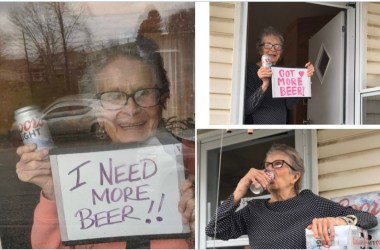 """93-year-old Olive Veronesi has inadvertently become the poster girl for Coors Light by providing proof that their slogan, """"It won't slow you down,"""" is true."""
