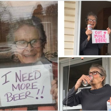 "93-year-old Olive Veronesi has inadvertently become the poster girl for Coors Light by providing proof that their slogan, ""It won't slow you down,"" is true."