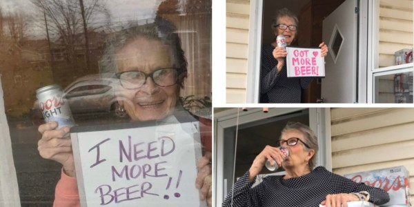 """I Need More Beer!!"" 93 YO Woman's Plea Goes Viral And Molson Delivers"