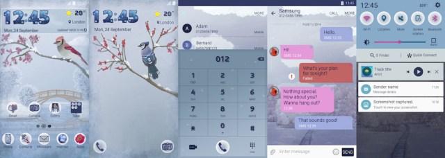 Samsung Galaxy S6 Edge Winter Memories Theme
