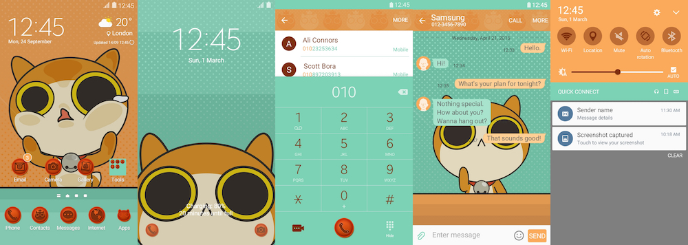 Samsung Galaxy Theme - Uniko Theme