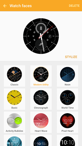 Gear Manager watch face