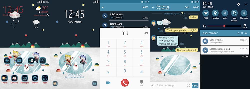 Samsung Galaxy Theme - Cloud Bread - Second Winter Story