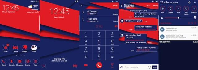 Samsung Galaxy Theme - Material Blue UI