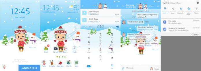 Samsung Galaxy Theme - [Pixome] Boy & Snowman (Live!)