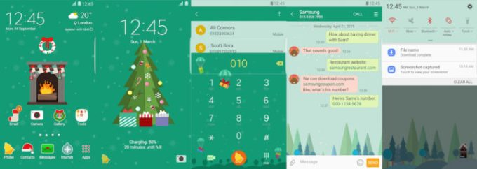 Samsung Galaxy Theme - Greeny Christmas - Paid