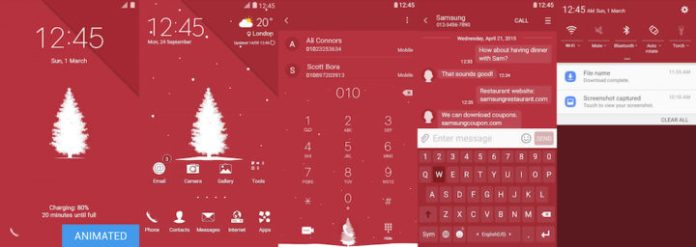 Samsung Galaxy Theme - [Walk On Mars] Christmas Card (Live)