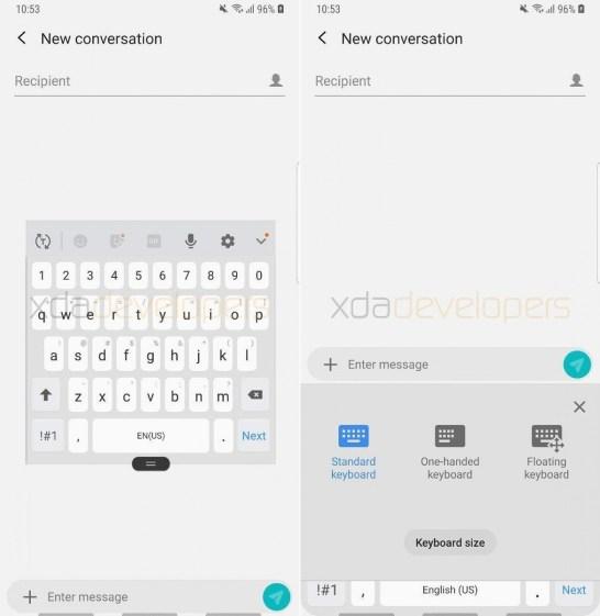 Android Pie irá trazer o modo flutuante para a aplicação Samsung Keyboard 1