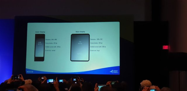 Samsung foldable phone screen resolution revealed at SDC