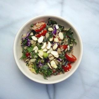Crunchy Quinoa Salad with Almond Butter Vinaigrette