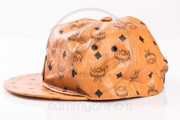 vintage MCM cap leather monogram gold sammyninos 4