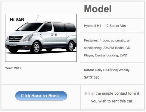 H1 Van 9 seater