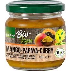 Bread spread bio vegan mango-papaya-curry 180 gr
