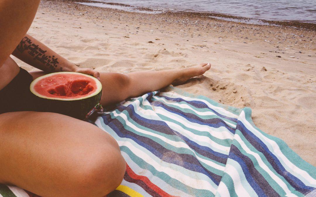 watermelon on the beach - Ibiza Local Produce - Summer season