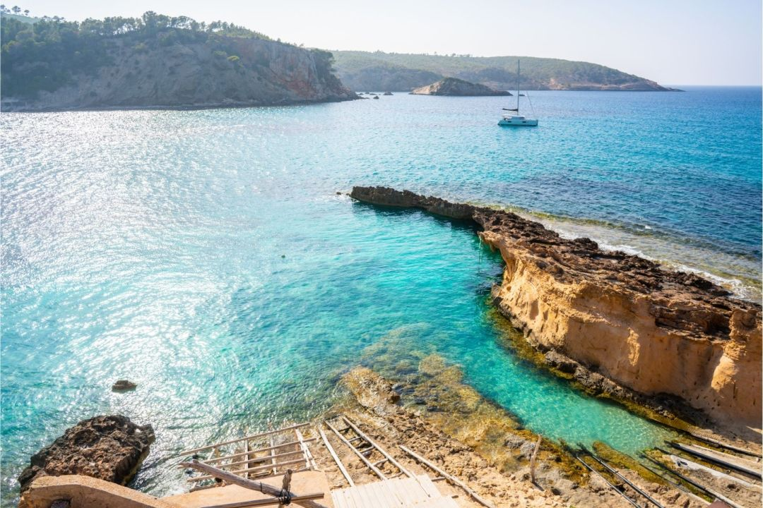 Discover Ibiza's Hidden Beaches and Perfect Picnic Beaches : Ibiza Cala Xarraca in Sant Joan of Balearics