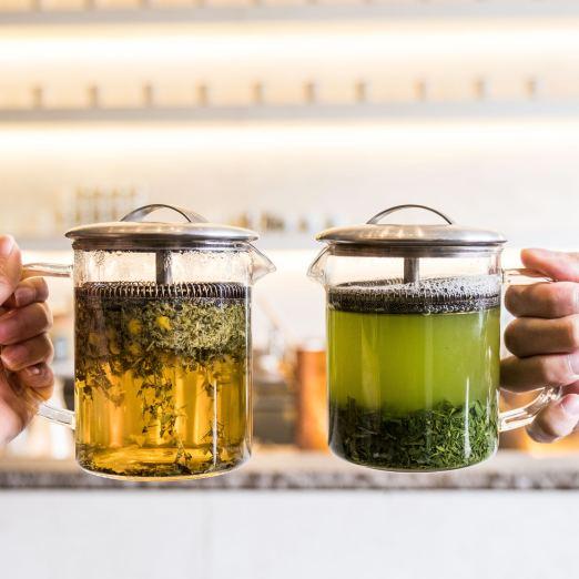 Tea is shared in San Francisco Tea House Samovar