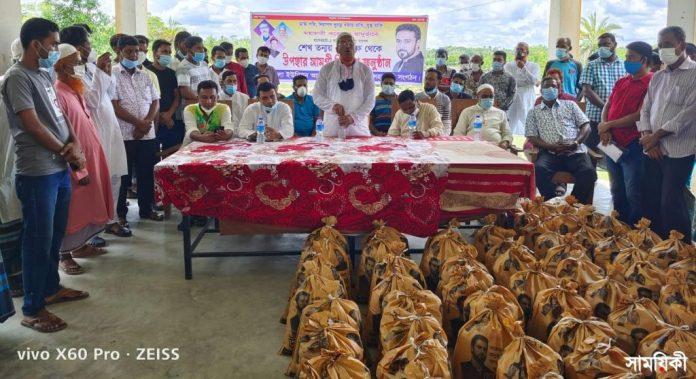 IMG 20210713 WA0000 2 রামপালে শেখ তন্ময়ের ত্রাণ সমগ্রী পেল ৪ শতাধিক হতদরিদ্র পরিবার