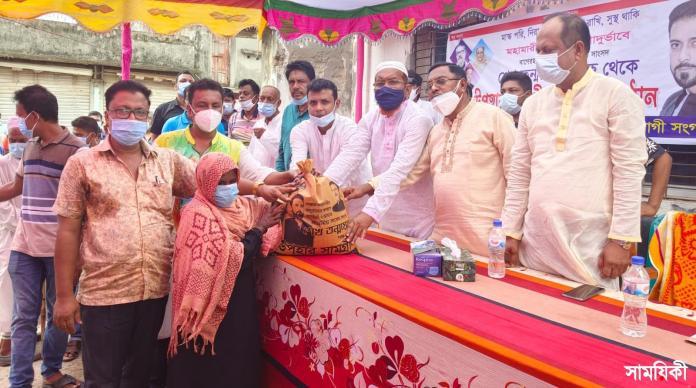 IMG 20210713 WA0005 2 রামপালে শেখ তন্ময়ের ত্রাণ সমগ্রী পেল ৪ শতাধিক হতদরিদ্র পরিবার