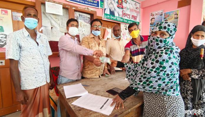 IMG 20210715 WA0015 2 রামপালের বাঁশতলী ইউনিয়ন পরিষদের সাতশত পরিবারকে নগত অর্থ ও অক্সিজেন সিলিন্ডার প্রদান