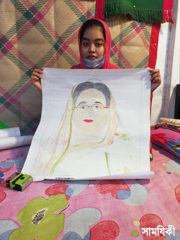 Barishal Photo Paintings drawn by deafdumb and autistic youth Tamanna Zahan 9 বাক্ ও শ্রবণপ্রতিবন্ধী এক অটিষ্টিক চিত্রকর তামান্না জাহান