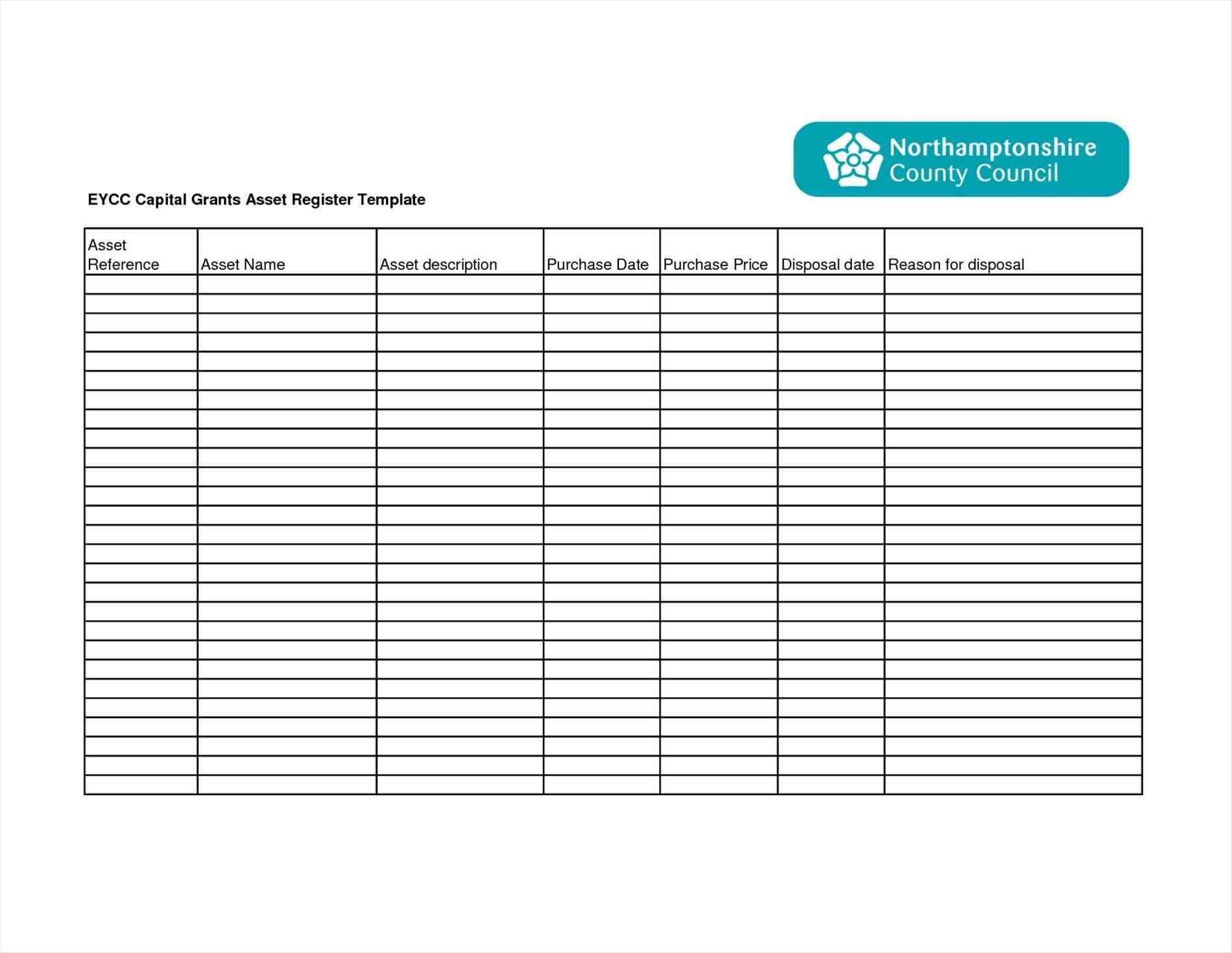 Sample Excel Templates Fixed Asset Depreciation Excel
