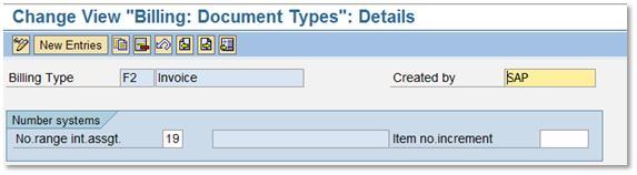 Number Range Setting for Sales Order, Billing, Deliveries