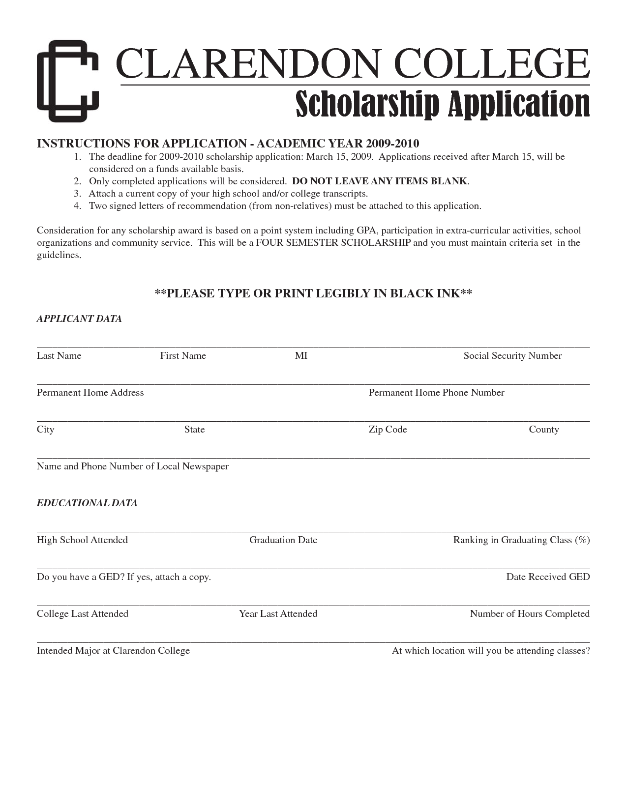 Scholarship Guidelines Template Tutore