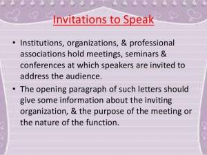 Letter Of Invitation To Speak For Guest Speaker