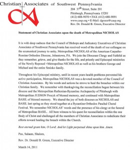 Letter Of Condolence From Church