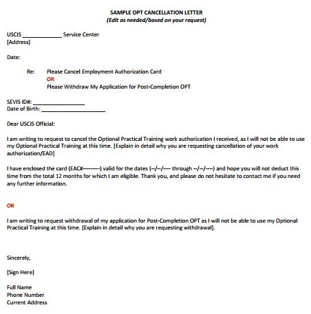 Cancel Service Letter Underntanacountryinn