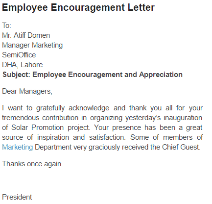 motivational letters to employees