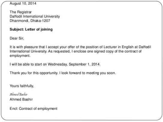 Employment Acceptance Letter | 14 Sample Acceptance Letters Sample Letters Word
