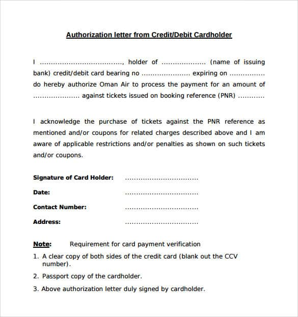 Work Authorization Letter Authorization Letter For Bank