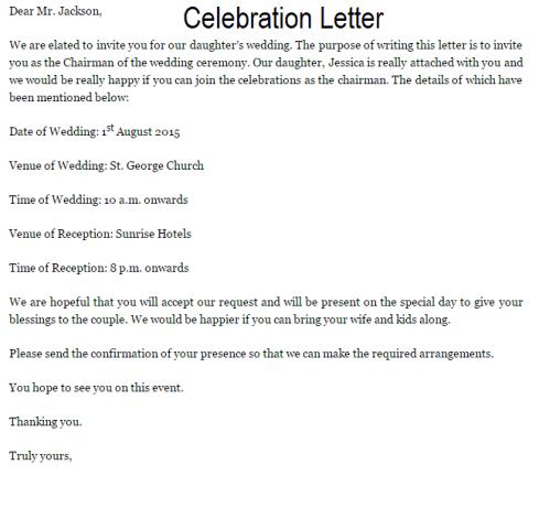 8 sample celebration letters sample letters word