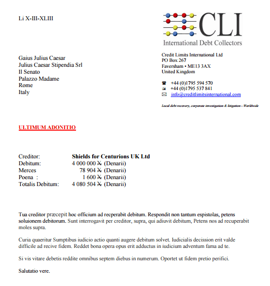 Collection Letter On Company Letterhead