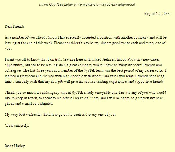 Goodbye Letter 20