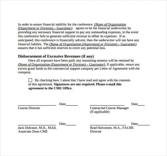 15 Sample Letters Of Agreement Sample Letters Word