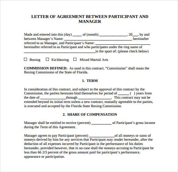 agreement to pay letter