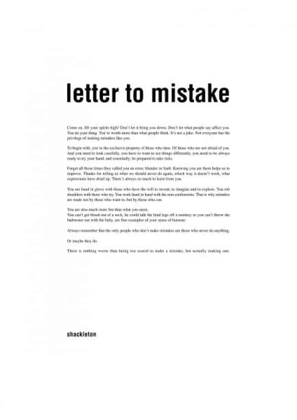 Letters Of Mistake  Sample Letters Word